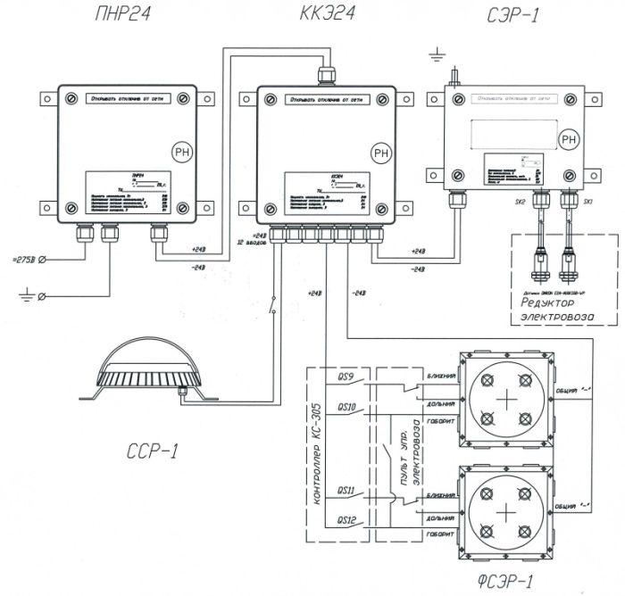 Схема подключения ПНР24М